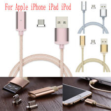 Braided Magnetic Adapter USB Charger Charging Cable For Apple iPhone iPad iPod