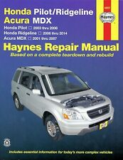 Honda Ridgeline 2006-2014, Pilot 2003-2008, Acura MDX 2001-2007 Repair Manual by