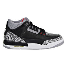 Air Jordan 3 Retro OG Big Kids' Basketball Shoes Black/Fire Red/Grey 854261-001
