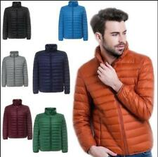 DuckDown Mens Down Jacket Stand collar Puffer Coat Ultralight Outdoor Packable*