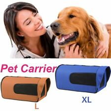 Pet Carrier Dog Cat Soft Crate Cage Bag Portable Kennel Foldable Travel L XL R6