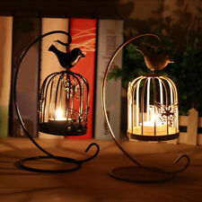 KE_ Birdcage Style Hanging Candle Holder Stand Vintage Lantern Wedding Decor U