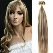 1g/s brown blond Glue Nail U Tip Pre-Bonded Keratin Remy Human Hair Extensions