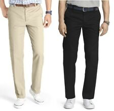 IZOD Mens Heritage Chino Flat Front Slim Fit Pants size 29 31 33 34 36 NEW
