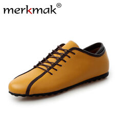 Men's Soft Leather Casual Shoes Flats Comfortable Handmade Mens Loafers Footwear