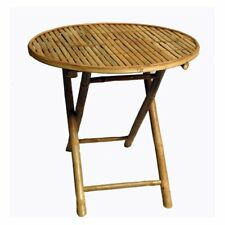 Bamboo54 Round Folding Patio Dining Table