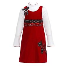 Bonnie Jean Girls Dress Set Scottie Dot Corduroy Fall Jumper Tod size 4T NEW