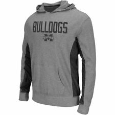 Colosseum Mississippi State Bulldogs Heather Grey Frigid Thermal Hooded Long