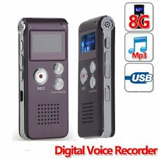 Mic 8GB Voice Activated USB Digital Audio Voice Recorder Dictaphone MP3 BS