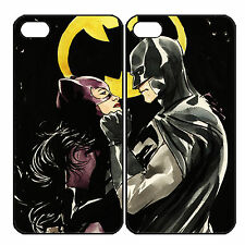 Cat woman and Batman Couple Phone Case Fits iPhone Samsung (2 cases)