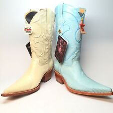 Los Altos Ladies Ring Lizard Cowboy Boots