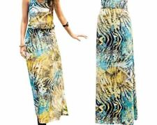 Women Casual Summer Bohemian Print Vintage Long Maxi Sundress