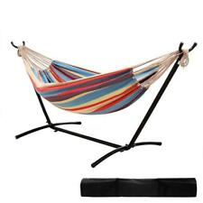 Ohuhu Double Hammock With Space Saving Steel Stand Includes Portable...