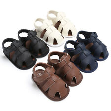 Summer Baby Infant Boy Sandals Soft Leather Beach Sandals Shoes Soft Sole 0-18M