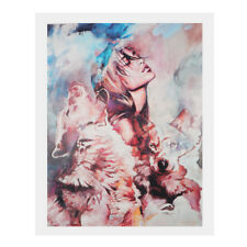 Abstract Art Painting Oil Print Painting on Canvas Poster - Girl and Wolf
