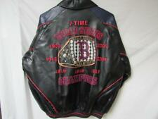 Red Sox Mens M - 4XL 7 Time World Series Champions Faux Leather Jacket B1 15