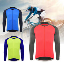 Men's Long Sleeve Tops Cycling Jersey Bike Bicycle Jacket Clothing Sports