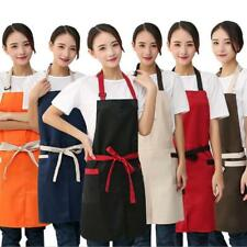 Chefs Apron with Pocket Solid Butcher Kitchen Cooking Baking Bib Cook Apron