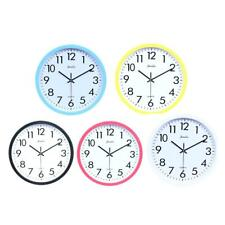Wall Clock, Quartz Battery Operated 10inch Round Home/Office/School Clock 5Color