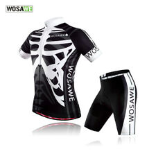 Mens Cycling Team Suit Short Sleeve Jersey 3D Padded Shorts Quick dry Bike Wear