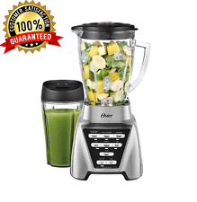 OSTER PRO BLENDER WITH GLASS JAR PLUS SMOOTHIE CUP FOOD PROCESSOR ATTACHMENT