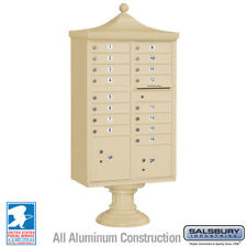 16 DOOR SALSBURY REGENCY DECORATIVE CLUSTER BOX UNIT (CBU) - USPS Approved