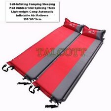 Self-Inflating Camping Sleeping Pad Outdoor Mat Splicing Thick Lightweight Camp