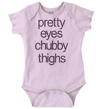 Pretty Eyes Chubby Thighs Infant Romper   Cute Funny Adorable Baby Baby Bodysuit