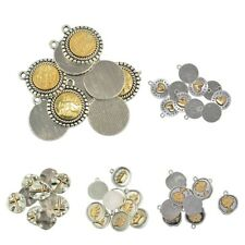 10pcs delicate silver gold tone Charms Pendants beaded Jewelry Finding Craft