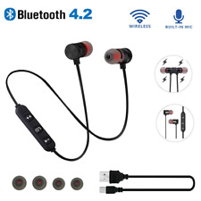 Bluetooth 4.2 Stereo Earphone Headset Wireless Magnetic In-Ear Earbuds Headset