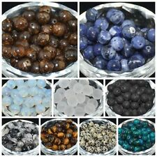 New Lot Natural Stone Gemstone Round Spacer Loose Beads 4MM 6MM 8MM 10MM 40pcs