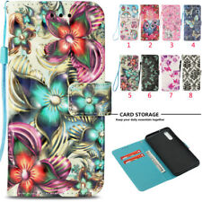 Floral 3D Pattern Wallet Leather Magnetic Card Flip Stand Cover Case For Huawei