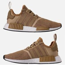 ADIDAS NMD RUNNER R1 CASUAL MEN's RAW GOLD - BLACK - TECK BEIGE AUTHENTIC NEW SZ