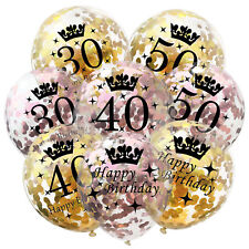Number Balloon 18 21 30 Years Happy Birthday Party Confetti Filled Balloon Decor