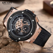 MEGIR Mens Watches Top Brand Luxury Men Military Sports Chronograph Luminous