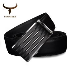 Mens casual genuine leather belts for strap male belt golden automatic buckle