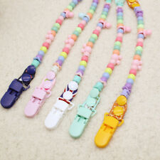 Baby Infant Pacifier Clip Dummy Bead Chain Clip Holder Nipple Feeding Strap