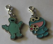 HOT BOYS GIRLS 2 STYLES BLUE COOKIE MONSTER  CLIP-ON-CHARMS,FOR BAGS/KEYRINGS,