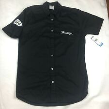 Ford Mustang Mechanic Style Button Front S/S Shirt New Black Ford Patch 2XL M