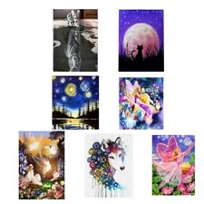 Animal Wolf Cat DIY Diamond Painting Embroidery Cross Stitch Kit Room Decor