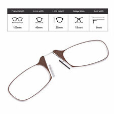 Portable Clip Nose Reading Glasses Presbyopic  Armless Glasses with Case LM