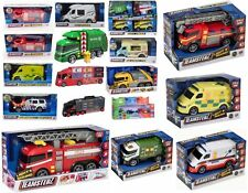Teamsterz vehicles toys fire service ambulance police helicopter motorcycle jeep