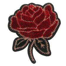 Embroidered Sew on Patch Badge Rose Flower For Bag Hat Dress DIY Applique