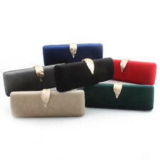 Solid Evening Bag Clutches Party Shoulder Handbags Women's Wallet Cotton Purse