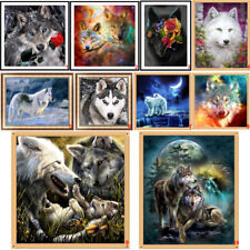 Wolves DIY 5D Diamond Painting Embroidery Animal Cross Stitch Kits Home Decor