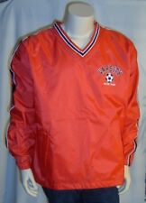 VARSITY Soccer Team Red Nylon Pullover Jacket Men's Sizes