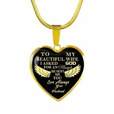 Gold Plated To My Wife Heart Pendant Romantic Gifts For Your Wife On Valentine..