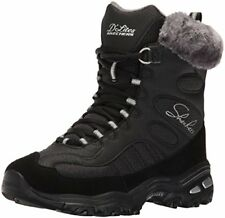 Skechers 48816 Womens DLites-Chalet Faux Fur Collar Winter Boot