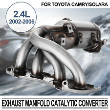 Exhaust Manifold Catalytic Converter For Toyota Camry Solara Header Bolt Engine (Fits: Toyota Camry)