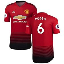 adidas Paul Pogba Manchester United Red 2018/19 Home Authentic Player Jersey